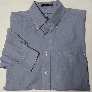 Tommy Hilfiger men's blue/white dress shirt 15 1/2